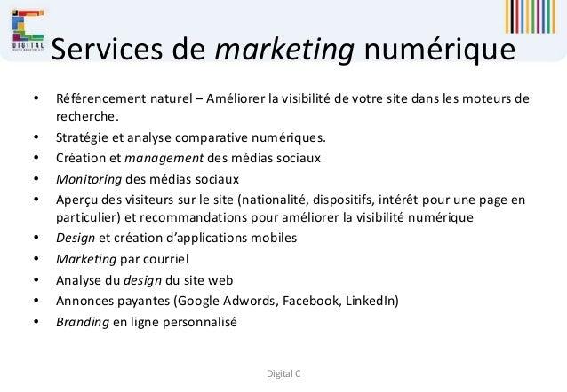 Digital C Services de marketing numérique  Référencement naturel – Améliorer la visibilité de votre site dans les moteurs...