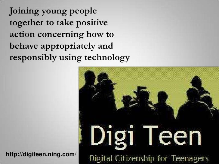 Joining young people together to take positive action concerning how to behave appropriately and responsibly using technol...