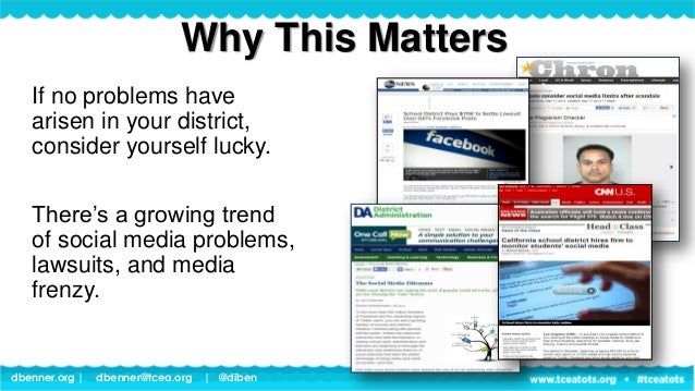 dbenner.org   dbenner@tcea.org   @diben If no problems have arisen in your district, consider yourself lucky. There's a gr...