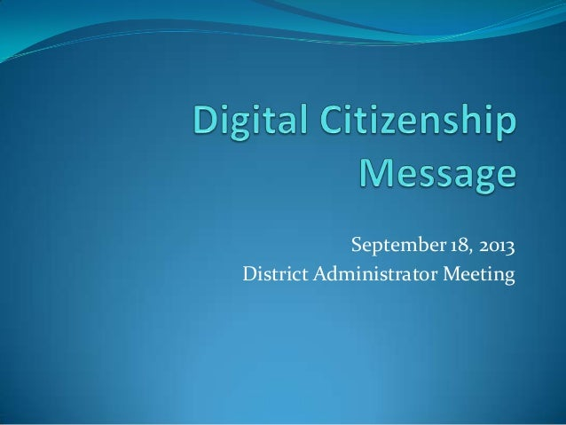 September 18, 2013 District Administrator Meeting