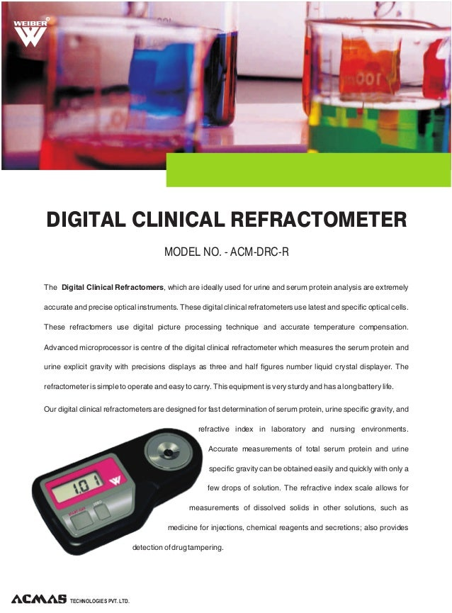 Digital Clinical Refractometer by ACMAS Technologies Pvt Ltd