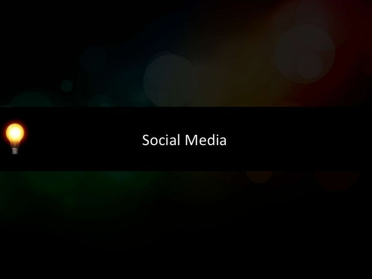 Social MediaOne Size Doesn't Fit All