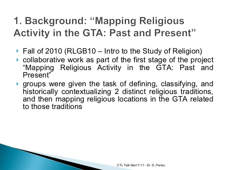 Collaborative Digital Work: Mapping Religious Activity in the GTA Slide 3