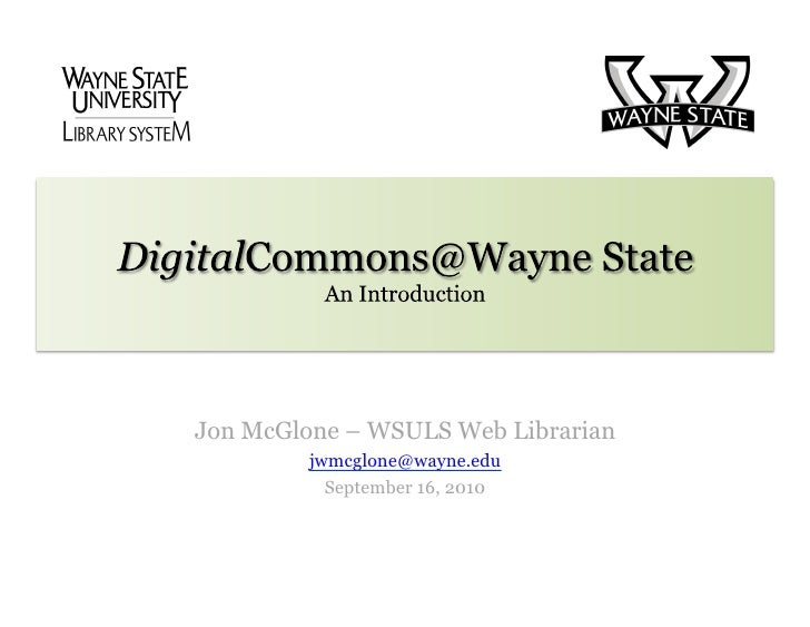 Introduction to Digital Commons