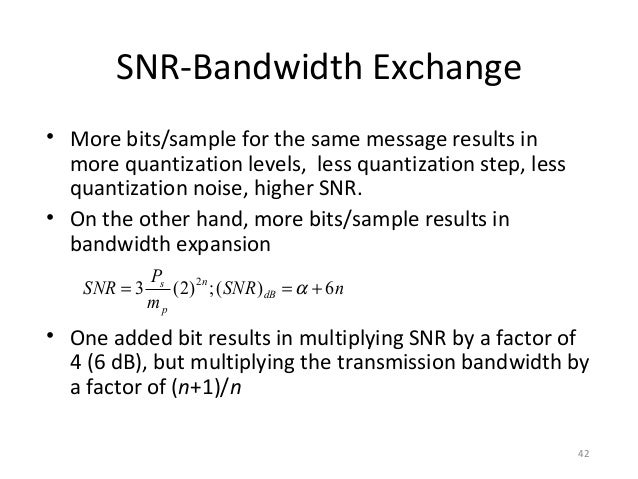 factor and bandwidth relationship