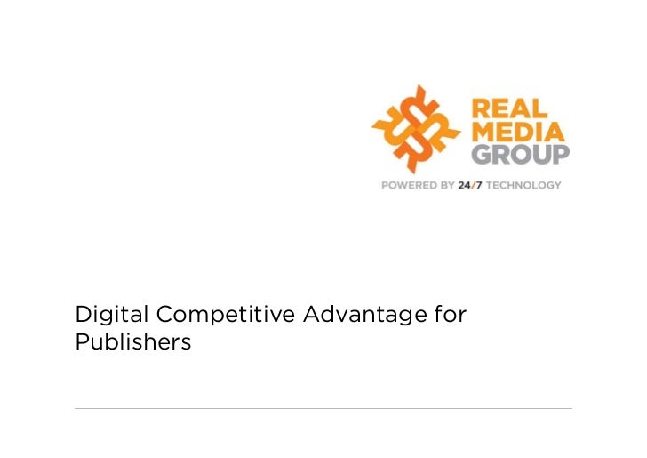 Digital Competitive Advantage forPublishers