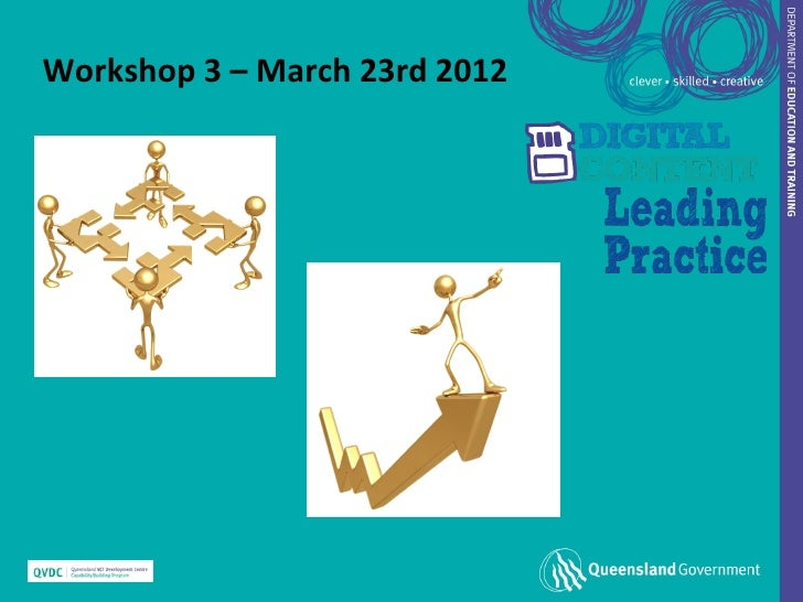 Workshop 3 – March 23rd 2012