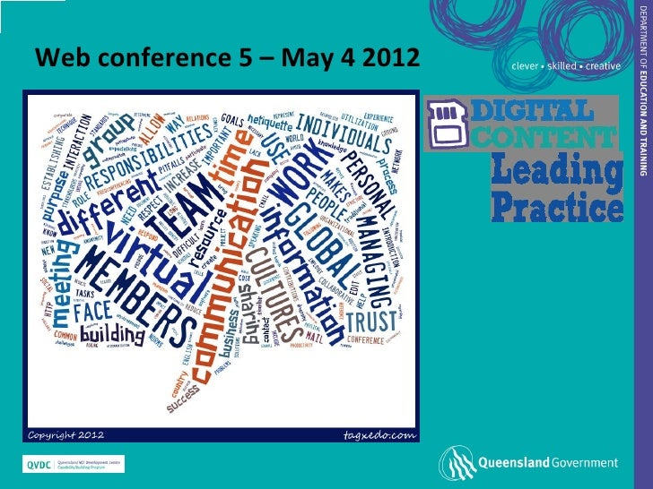 Web conference 5 – May 4 2012