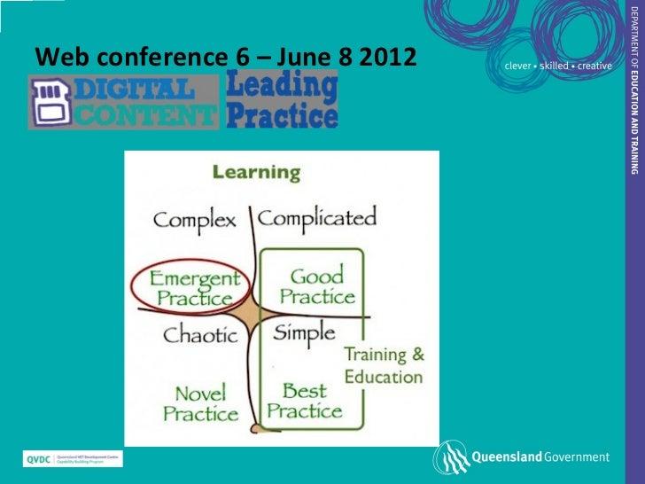 Web conference 6 – June 8 2012