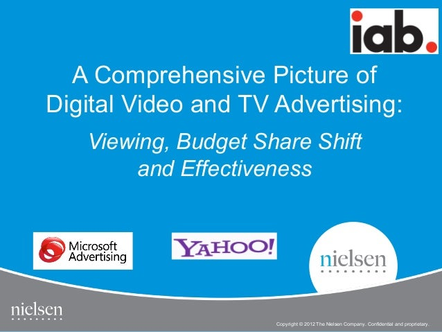 A Comprehensive Picture ofDigital Video and TV Advertising:   Viewing, Budget Share Shift        and Effectiveness        ...