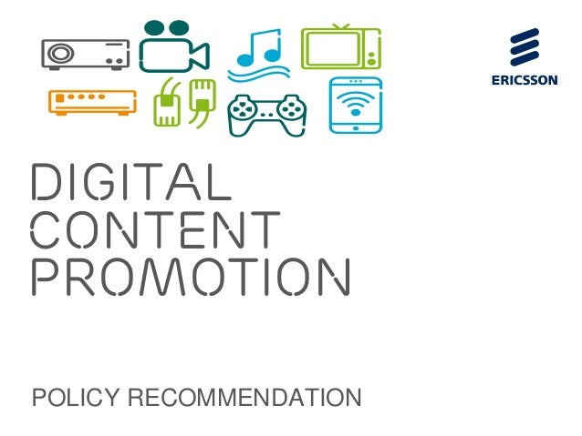 DigitalcontentpromotionPOLICY RECOMMENDATION