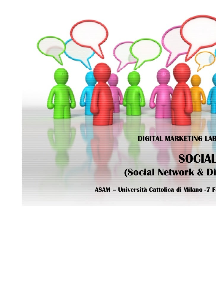 DIGITAL MARKETING LAB – Advanced                             SOCIAL MEDIA          (Social Network & Digital PR)          ...