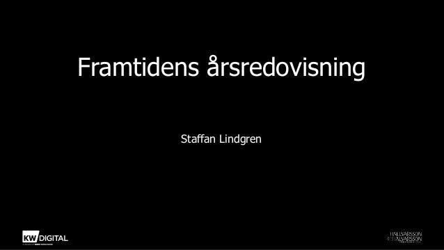Framtidens årsredovisningStaffan Lindgren