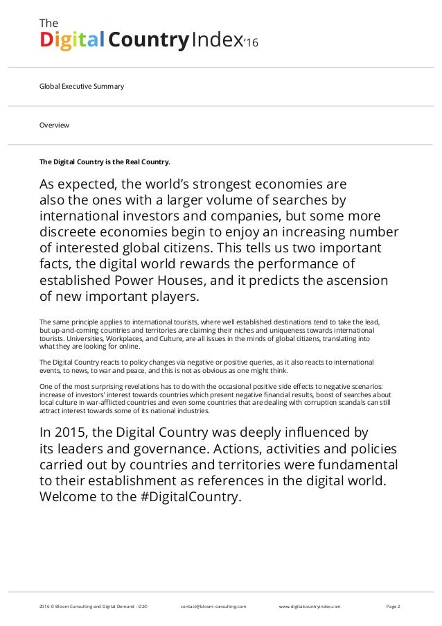 The Digital Country is the Real Country. As expected, the world's strongest economies are also the ones with a larger volu...