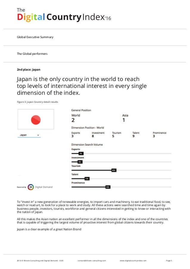 2nd place: Japan Japan is the only country in the world to reach top levels of international interest in every single dime...