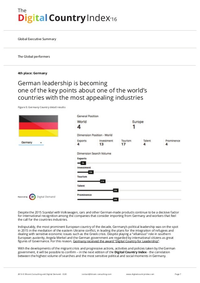4th place: Germany German leadership is becoming one of the key points about one of the world's countries with the most ap...