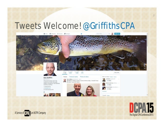 Tweets Welcome! @GriffithsCPA 2