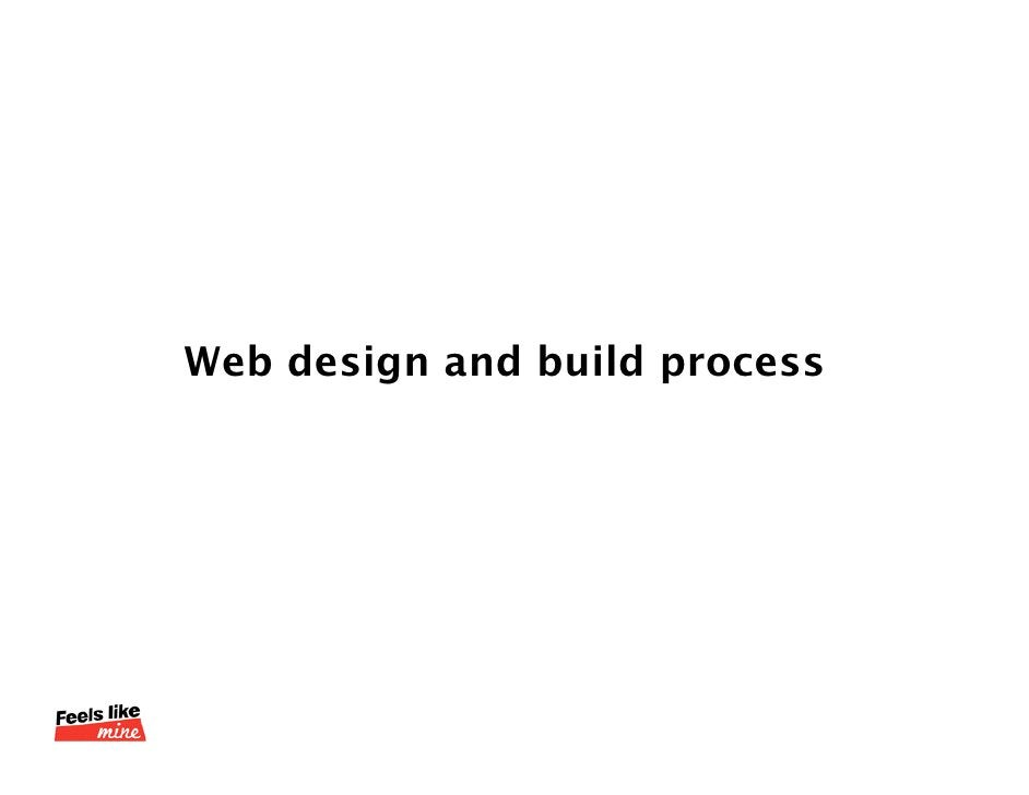 Web design and build process<br />