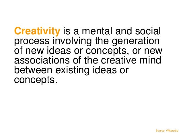 Creativity in thiscontext is aboutsolving problems