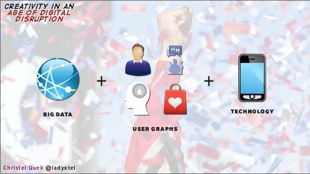 USER GRAPHS + BIG DATA + TECHNOLOGY Christel Quek @ladyxtel creativity in an age of digital disruption
