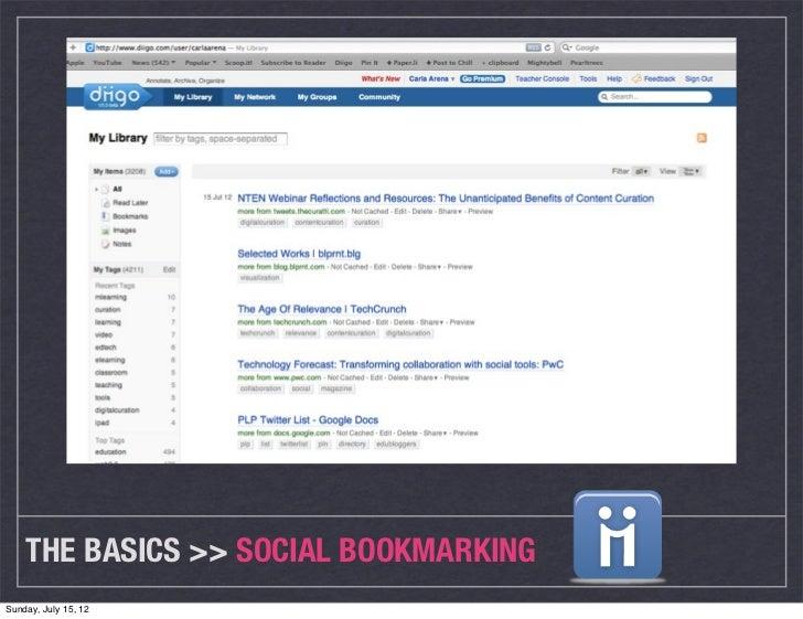THE BASICS >> SOCIAL BOOKMARKINGSunday, July 15, 12