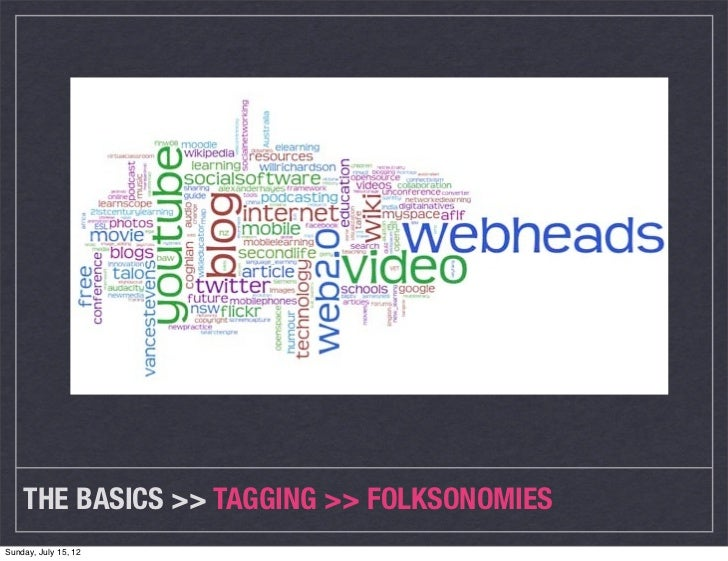 THE BASICS >> TAGGING >> FOLKSONOMIESSunday, July 15, 12