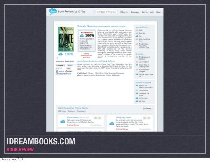 IDREAMBOOKS.COM    BOOK REVIEWSunday, July 15, 12