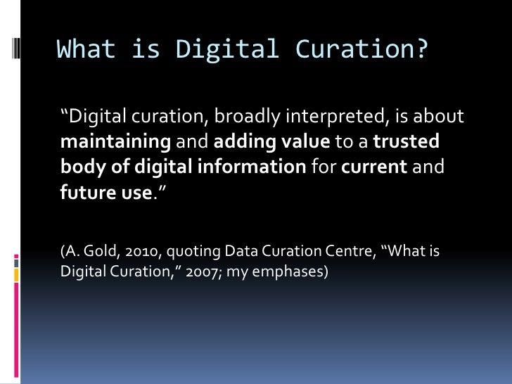 Digital Curation Intro Slide 3