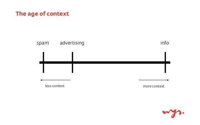 The age of context  spam advertising info  less context more context