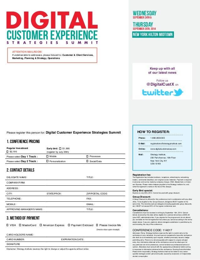 Digital Customer Experience Strategies Summit New York