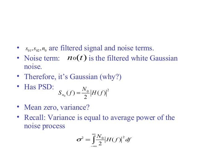 Detection of binary signal in gaussian noise | INVESTED iQ