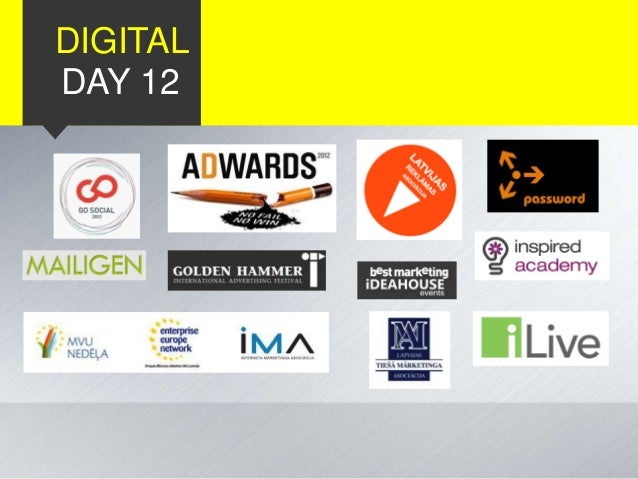 Digital Day 2012 Slide 2
