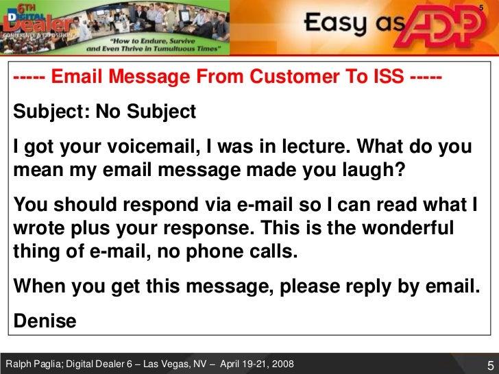 Digital Dealer 6 Email Is Killing You