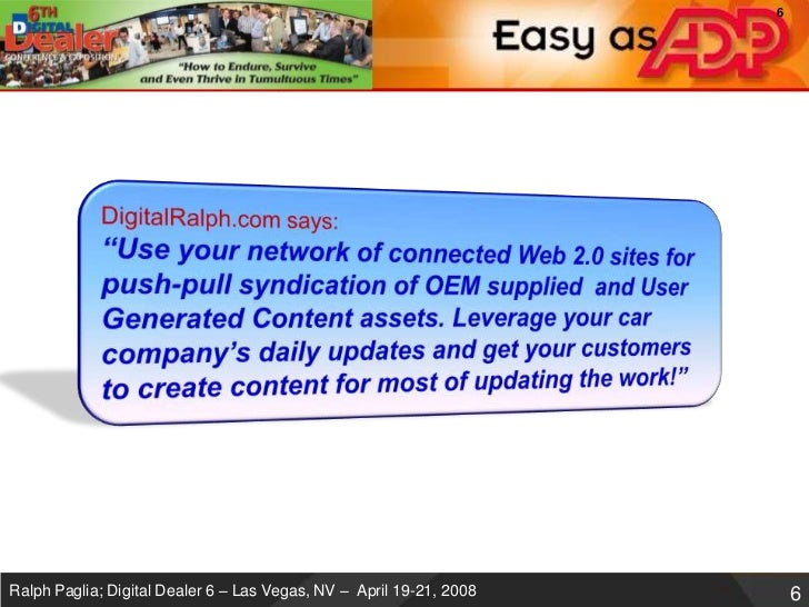 Digital Dealer Web 2 0 Guerrilla Marketing