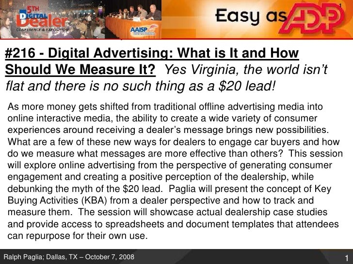 #216 - Digital Advertising: What is It and How Should We Measure It?Yes Virginia, the world isn't flat and there is no suc...