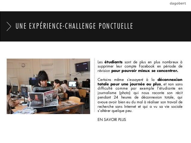 UNE EXPÉRIENCE-CHALLENGE PONCTUELLE                        Les étudiants sont de plus en plus nombreux à                  ...