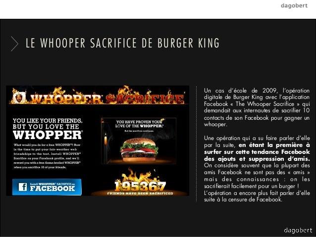 LE WHOOPER SACRIFICE DE BURGER KING                                Un cas d'école de 2009, l'opération                    ...