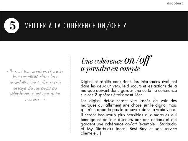 5        VEILLER À LA COHÉRENCE ON/OFF ?                                   Une cohérence on/off«Ils sont les premiers à v...