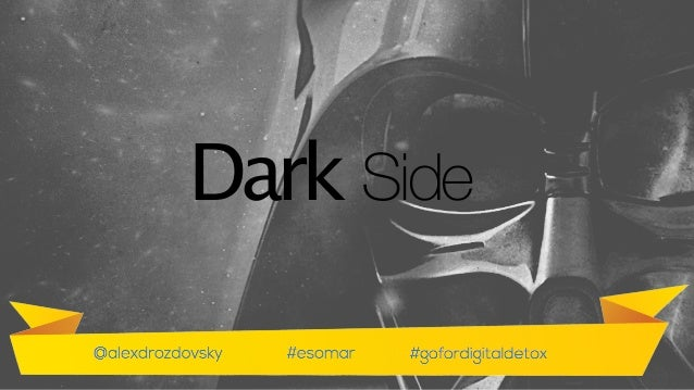 Now let's think about the opposite side of the internet - the spooky one - the dark side!  Dark Side