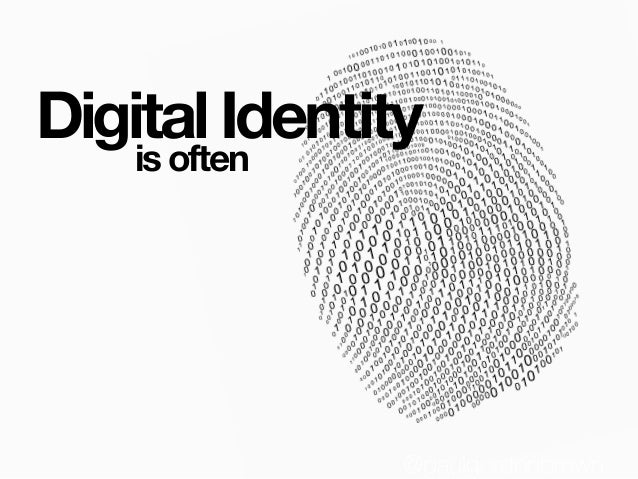 Digital Identity @paulgordonbrown is often