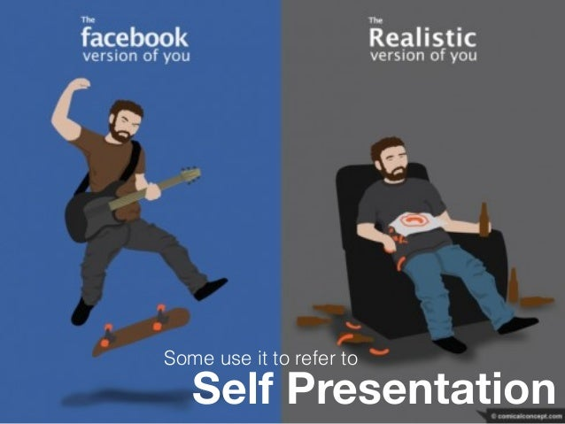 Self Presentation Some use it to refer to