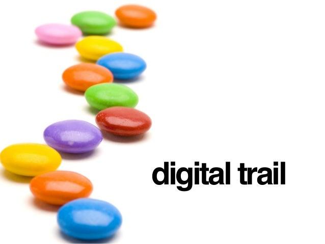 digital footprints + digital shadow + digital trail digital stamp