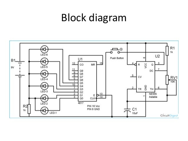 Block Diagram Of Electronic Dice - General Wiring Diagrams on