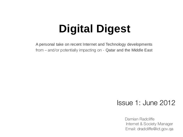 Middle East Digital Digest: June 2012