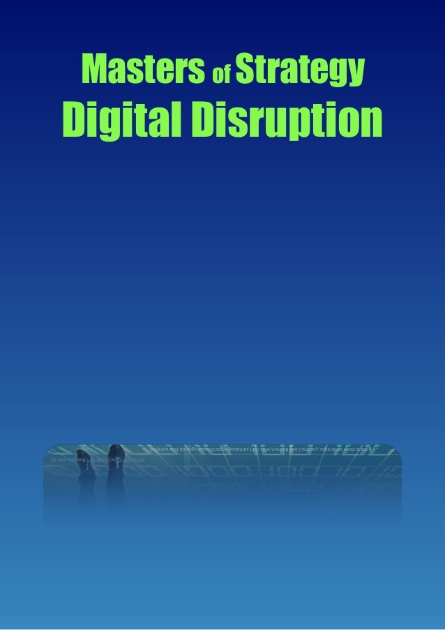 Our Guide to Digital disruption Update 2019