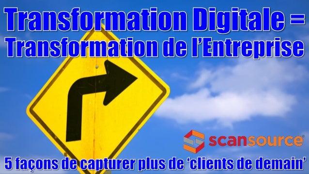 Réalité du Futur Transformation Digitale = Transformation de l'Entreprise