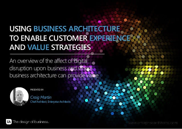 | USING BUSINESS ARCHITECTURE TO ENABLE CUSTOMER EXPERIENCE AND VALUE STRATEGIES | ENTERPRISE ARCHITECTS © 201 41 PRESENTE...