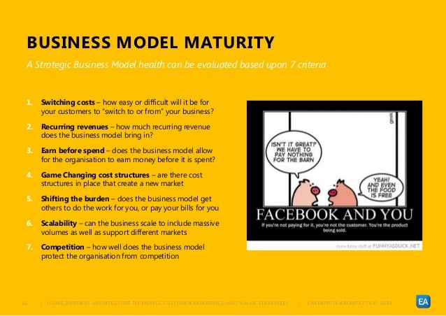 | USING BUSINESS ARCHITECTURE TO ENABLE CUSTOMER EXPERIENCE AND VALUE STRATEGIES | ENTERPRISE ARCHITECTS © 201 461 BUSINES...