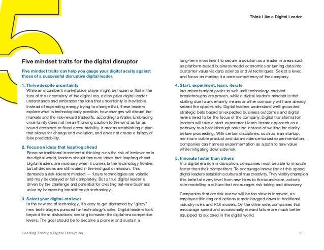 Technology Management Image: Leading Through Digital Disruption