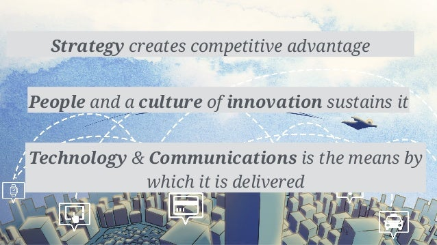 Strategy creates competitive advantage People and a culture of innovation sustains it Technology & Communications is the m...